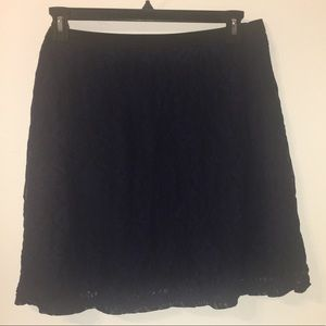 2x navy blue lacy skirt